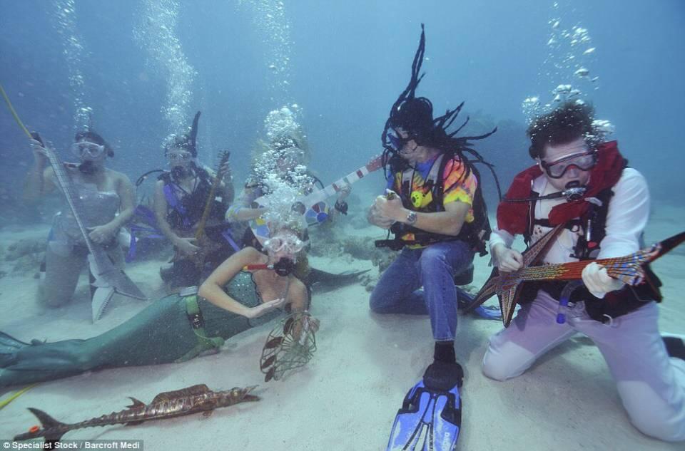 Under water music festival