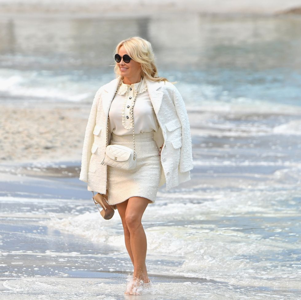 Pamela Anderson Recreates Baywatch at the Chanel Show