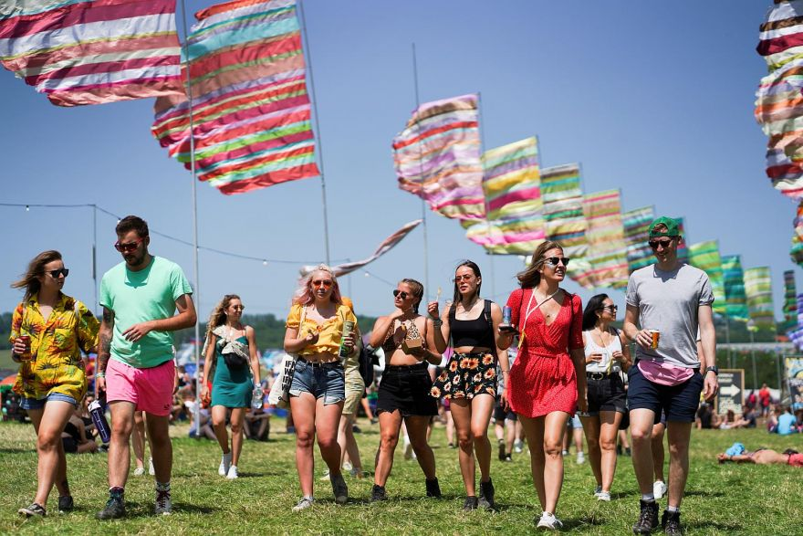 FEATURE -Baby wipes, tents and private jets: festivals vow to go green